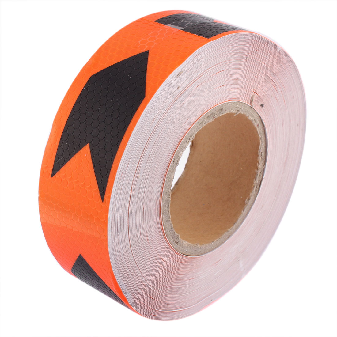 Orange Black Car Arrow Pattern Reflective Strip Tape Sticker 45M