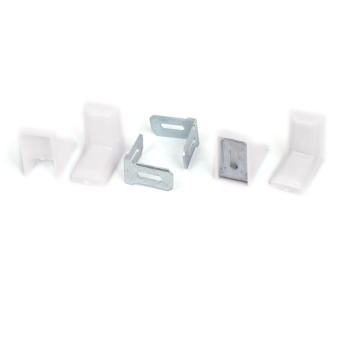 29mmx29mm Cabinet Cupboard Shelf Corner Brace Plate Right Angle Bracket 4pcs