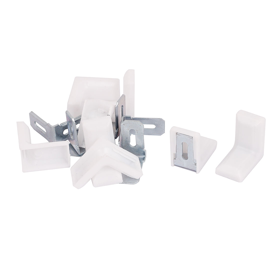29mmx29mm Cabinet Cupboard Shelf Corner Brace Plate Right Angle Bracket 8pcs