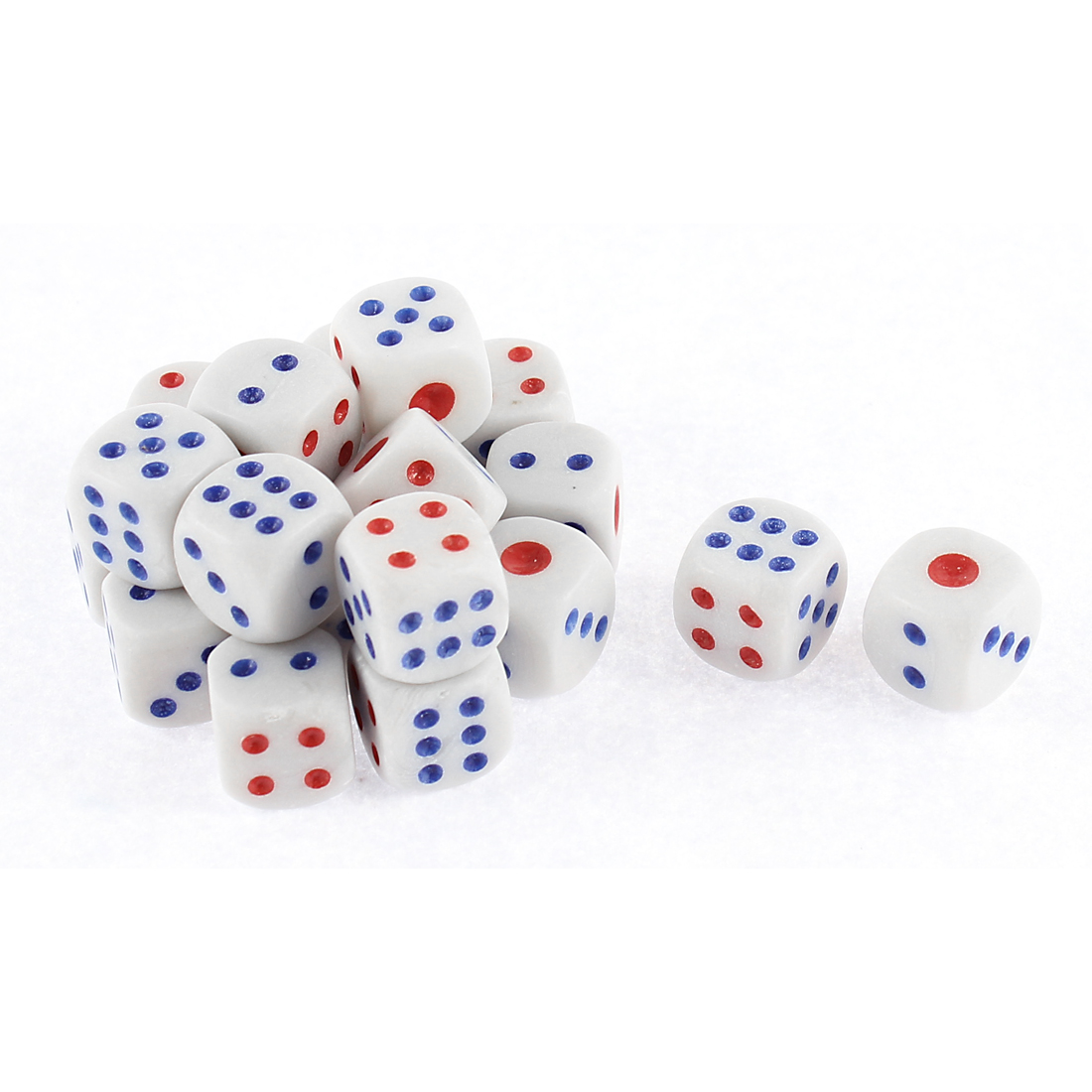 20 Pcs Round Corner Plastic Gaming Party Bar Casino Playing Cubical Dices