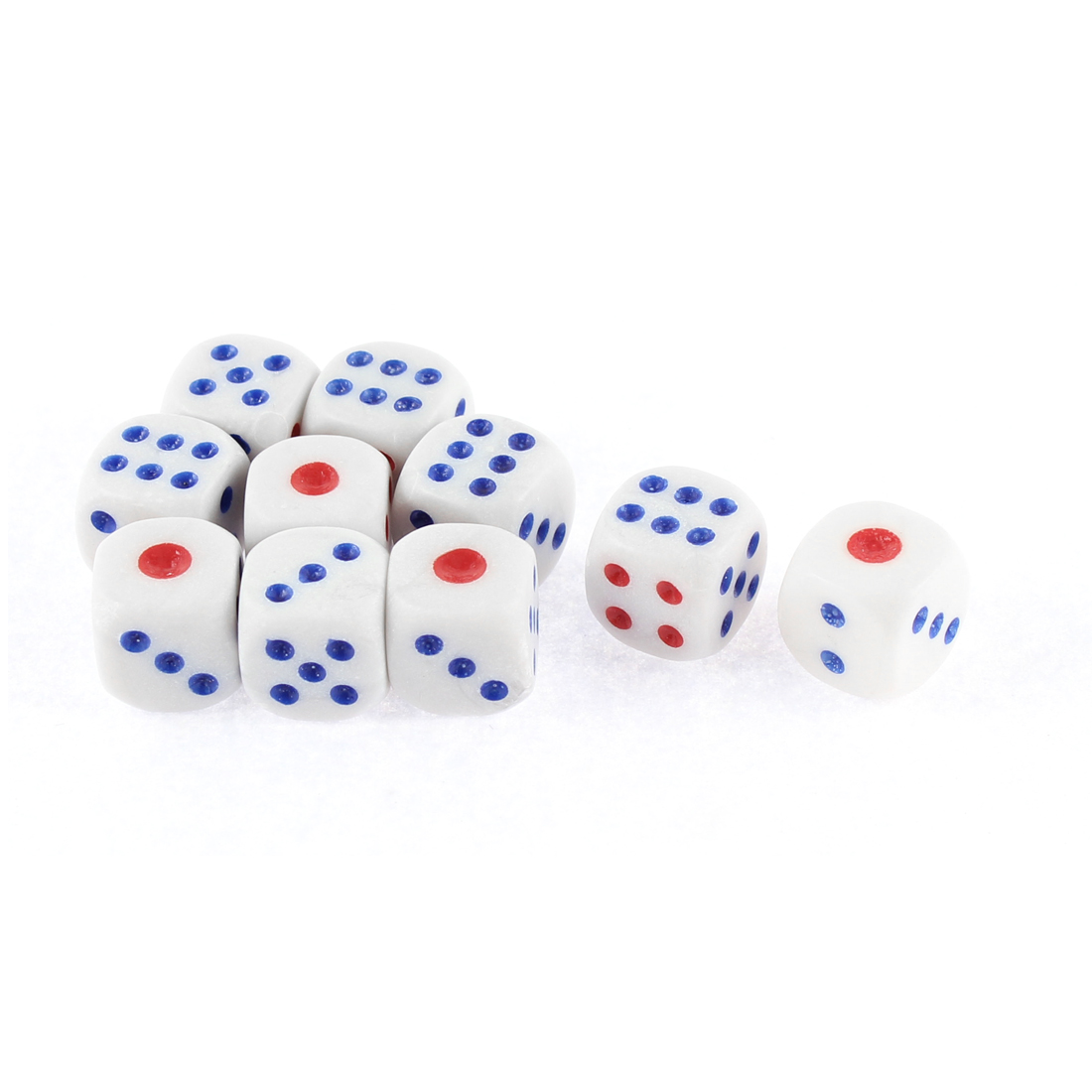 10 Pcs Entertainment Guessing Game Cubical Red Blue Dot Dices Toy
