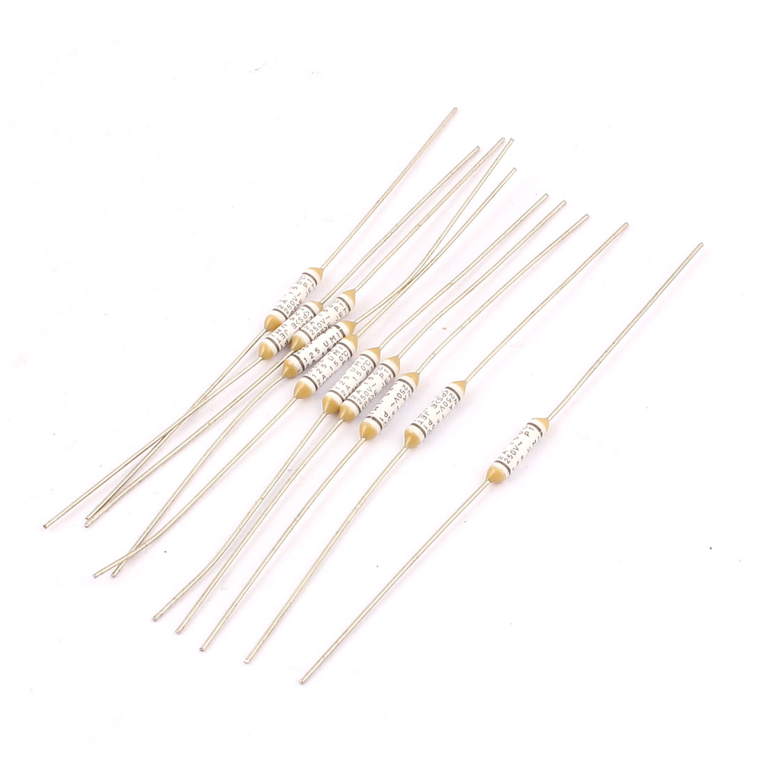 10pcs Metal 150 Celsius Degree Cylinder Circuit Cut Off Temperature Thermal Fuses AC 250V 2A