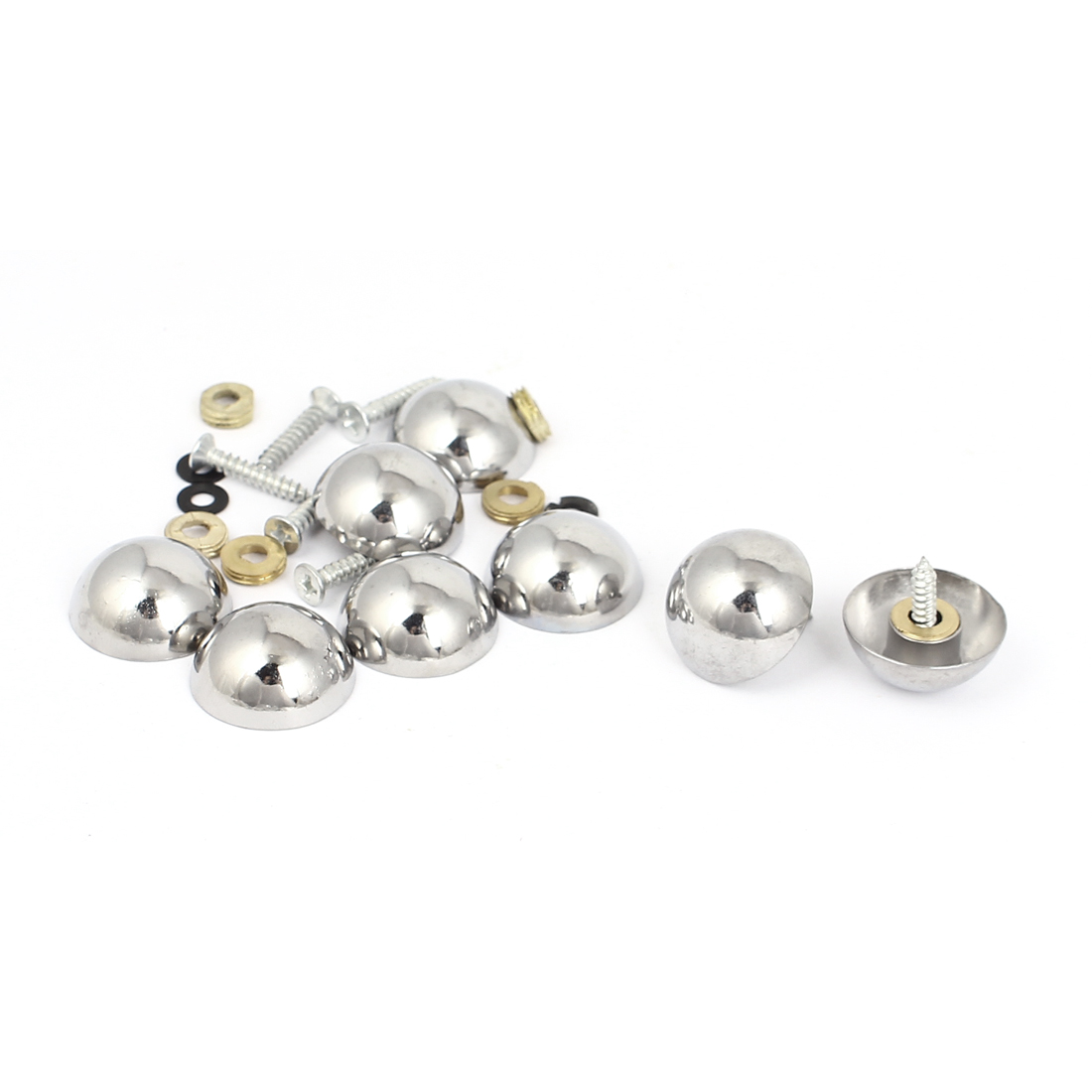 23mm Cap Dia Metal Semisphere Upholstery Tacks Decorative Mirror Nails 8Pcs