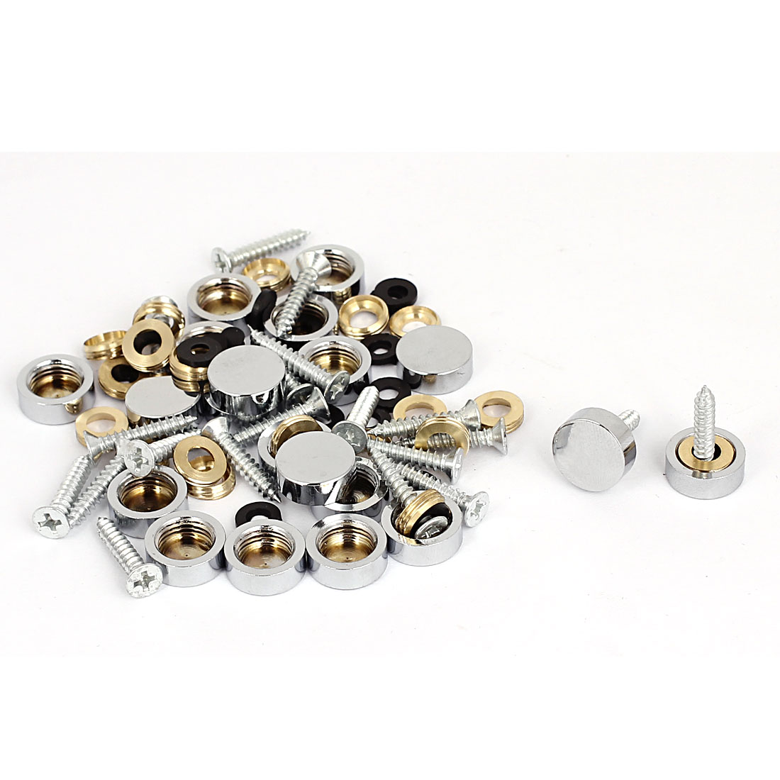 14mm Dia Advertising Glass Tea Table Decorative Metal Mirror Screw Nails 20Pcs