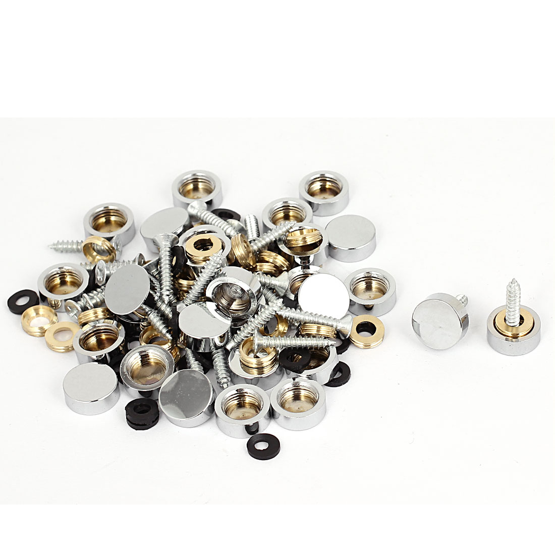 14mm Dia Advertising Glass Tea Table Decorative Metal Mirror Screw Nails 40Pcs