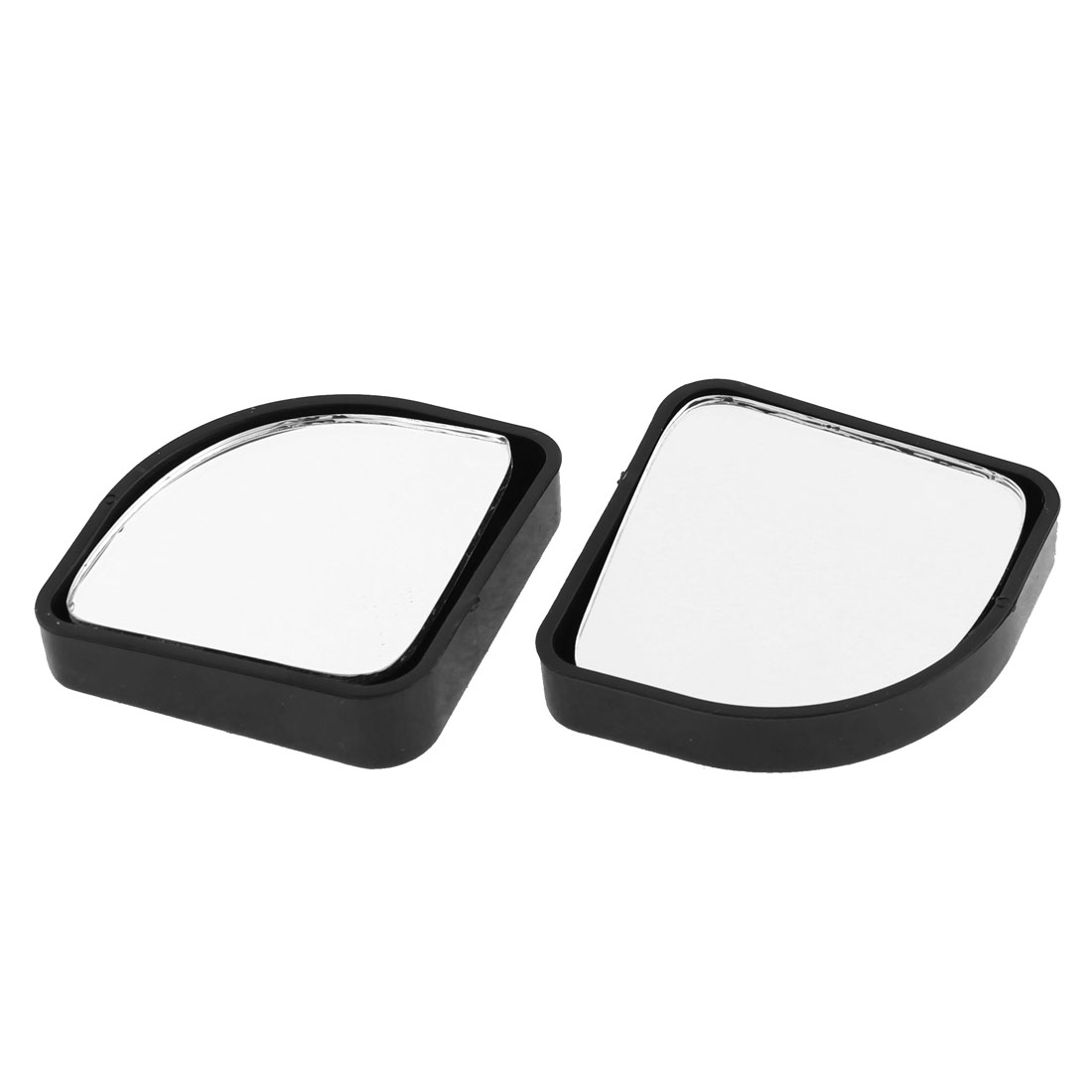 2 Pcs Self Adhesive Blind Spot Side Monitor Flat Rearview Mirrors for Automotive