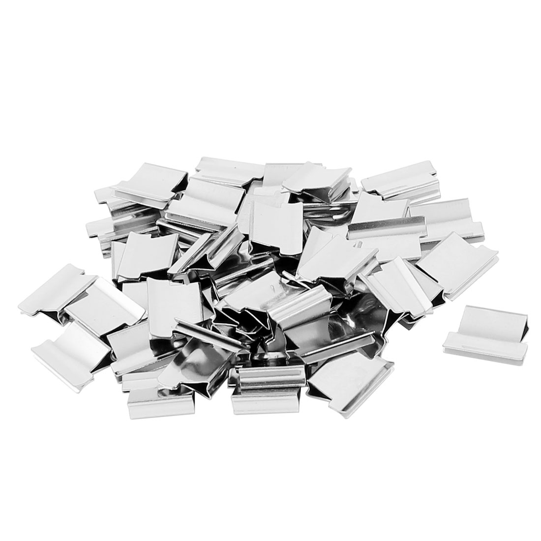 13mm x 9mm x 3mm Metal Reusable Staple Binding Refills Clam Clips Nalclip 50 Pcs