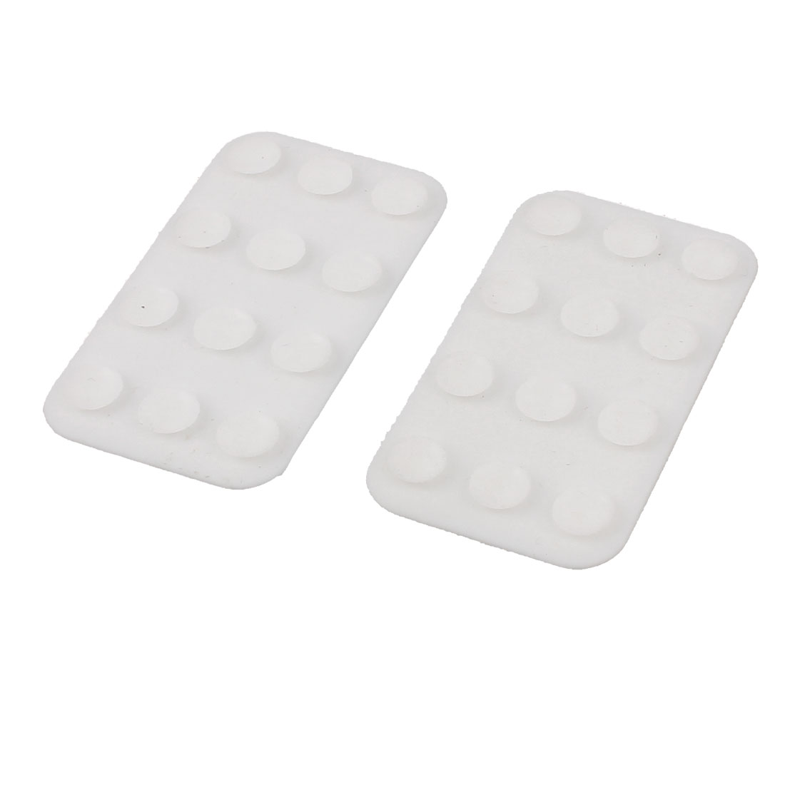White Silicone Double Side Suction Cup Universal Mobile Phone Sucker Holder 2 Pcs