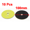 "Granite Marble Concrete 150 Grit 4"" Dia Wet Diamond Polishing Pads Yellow 10pcs"