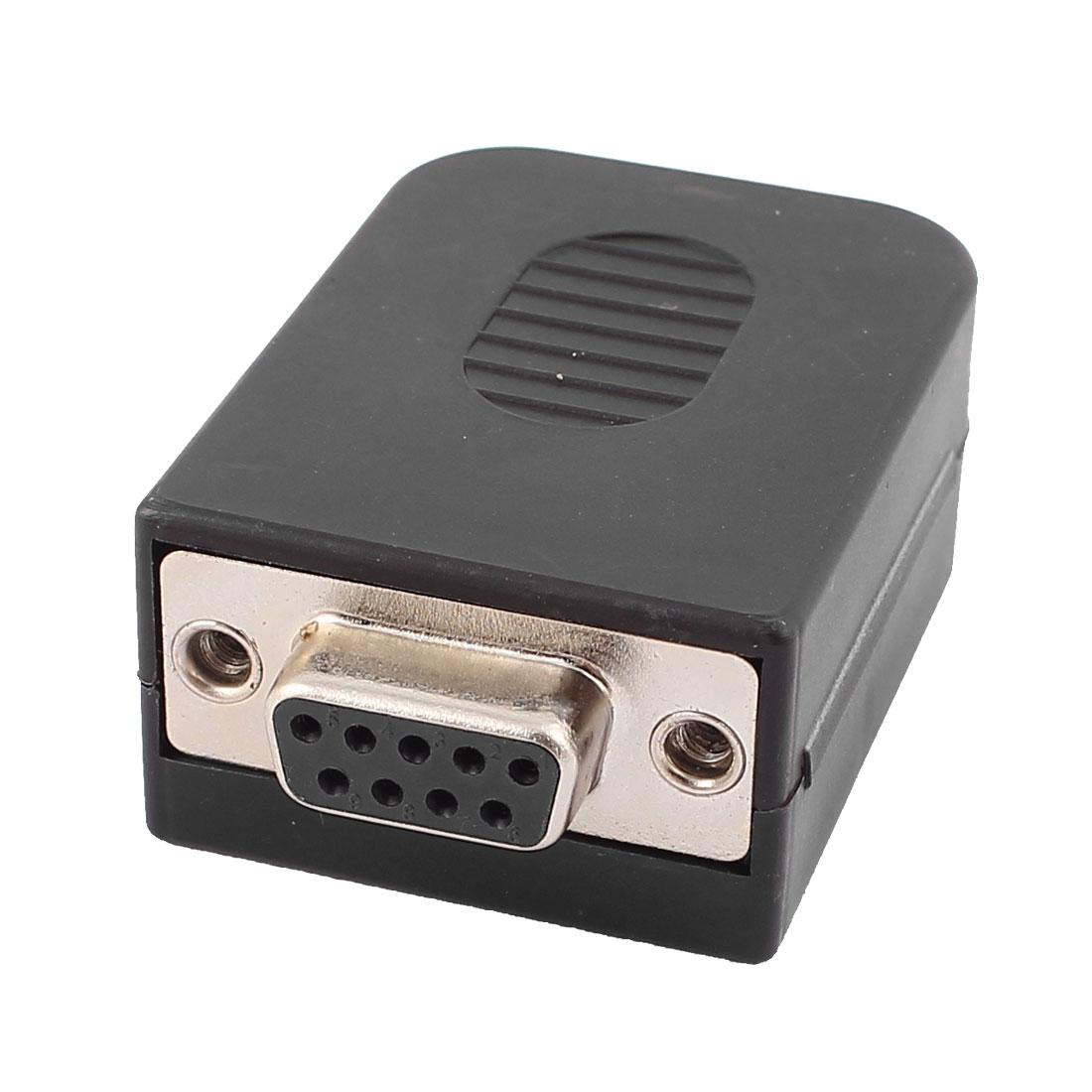 DB9 9-Pin VGA Female Socket D-SUB 2 Row Type Connector Adapter
