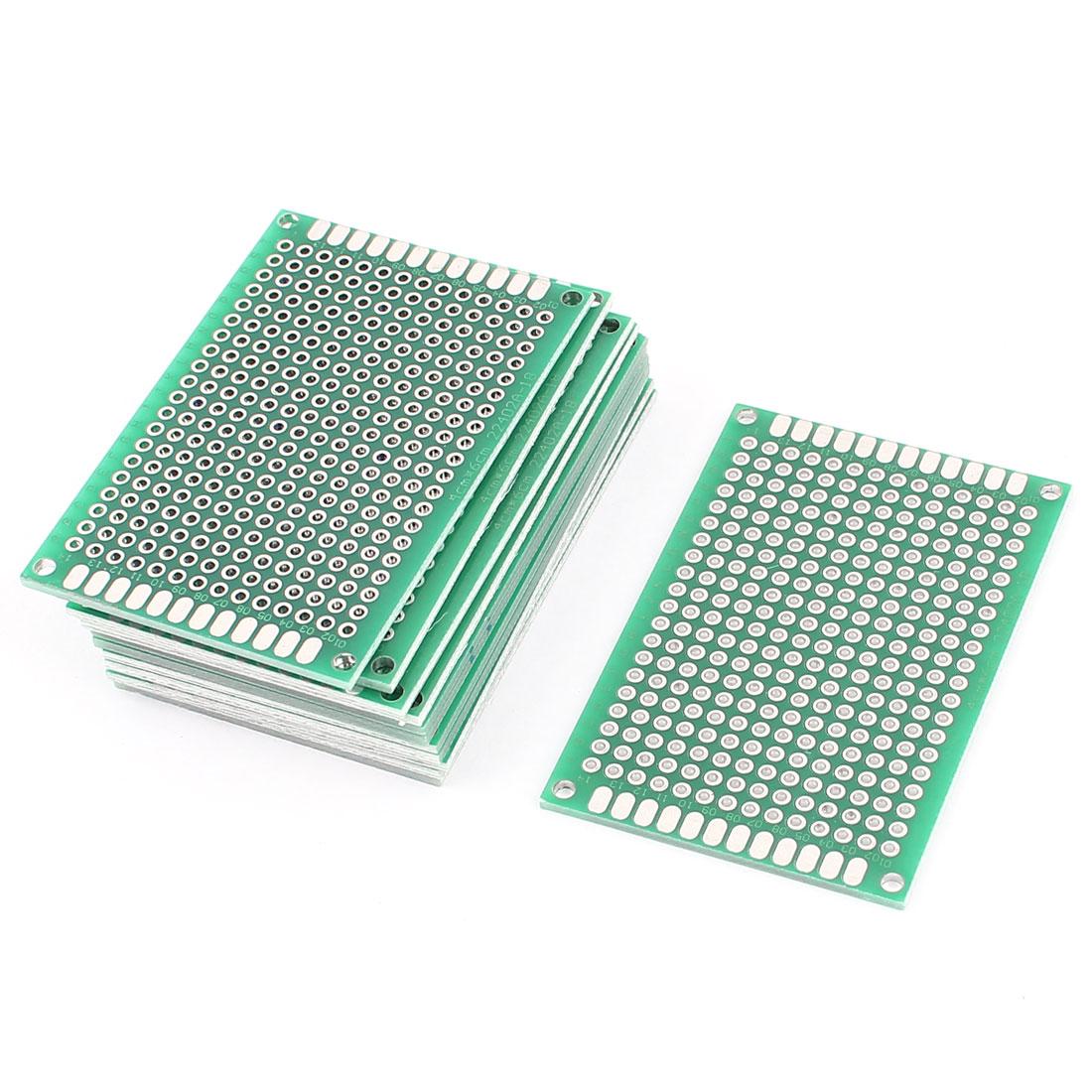 12Pcs 4cm x 6cm Electronic DIY Prototype Paper Double Side PCB Universal Board