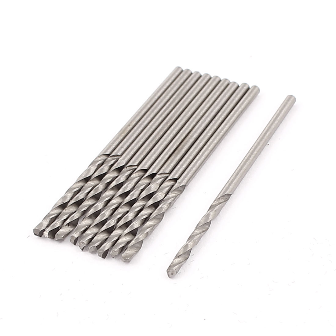 10 Pcs 1.5mm Dia Split Point Straight Shank Twist Drilling Drill Bits