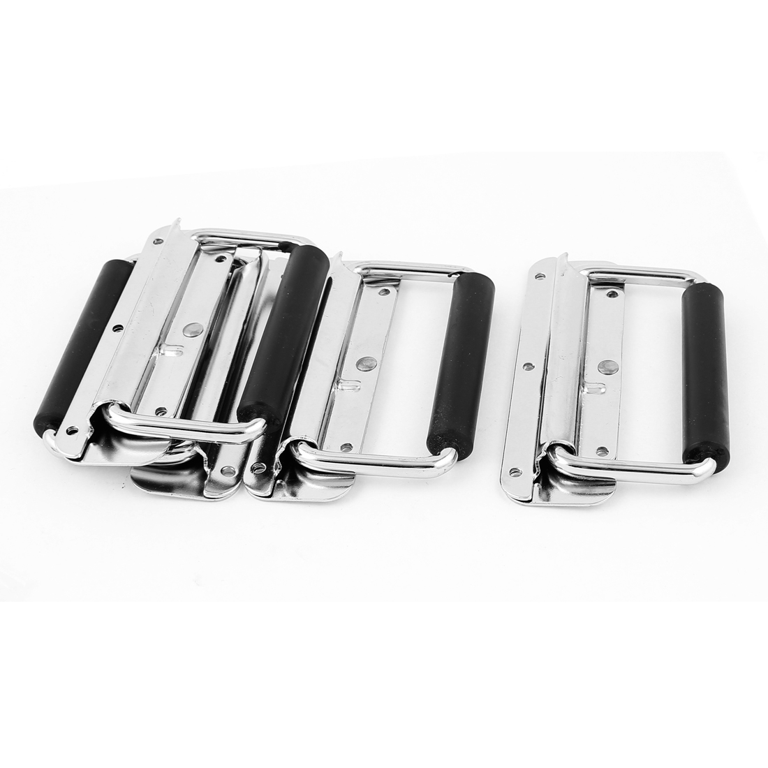 Metal Toolbox Door Spring Loaded Chest Pull Handle Puller Hardware 4pcs