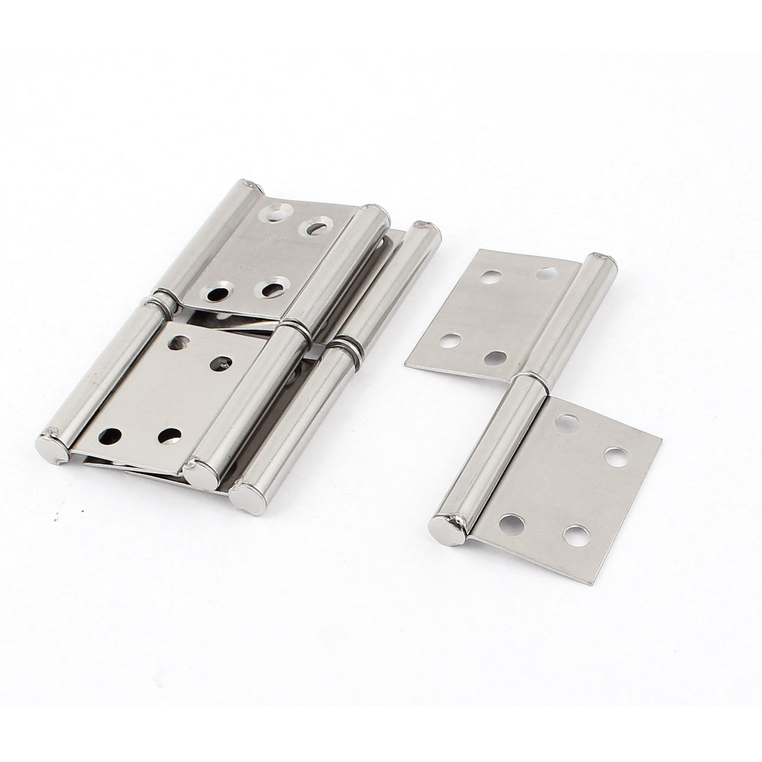 96mmx38mm Stainless Steel Rotatable Door Hinges Silver Tone 4pcs