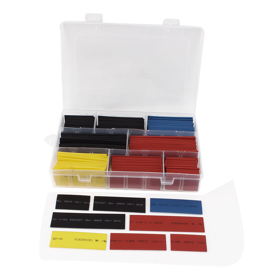 160Pcs Four Colors Assorted Sizes Heat Shrinkable Tube Sleeving Wrap Wire Kit