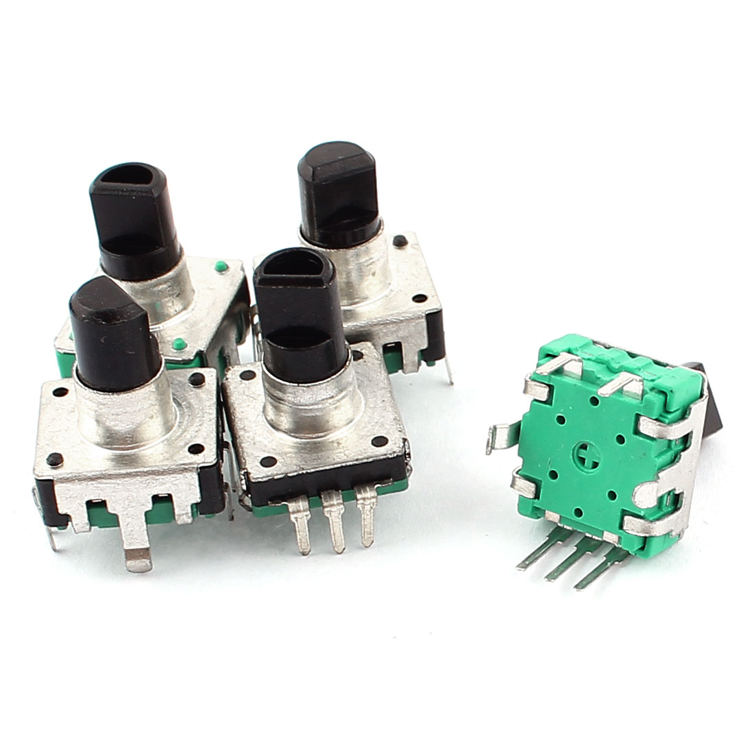 5pcs 24 Positions 5mm Black Rotary Shaft Encoder Push Button Switch Keyswitch Electronic Components