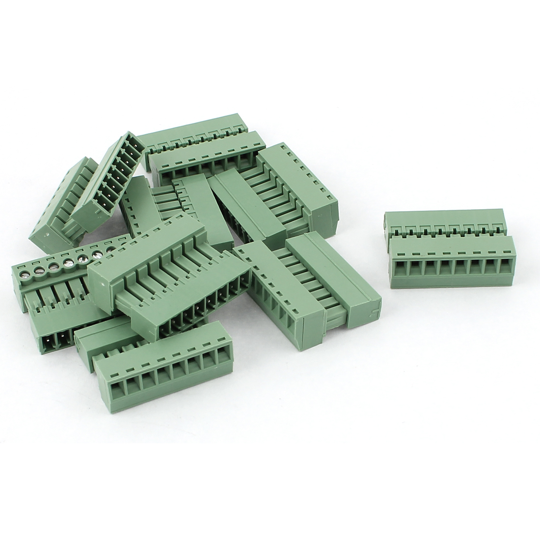 10 Pcs 250V 6A 8-Pin 3.81mm Spacing PCB Mount Terminal Block Connector