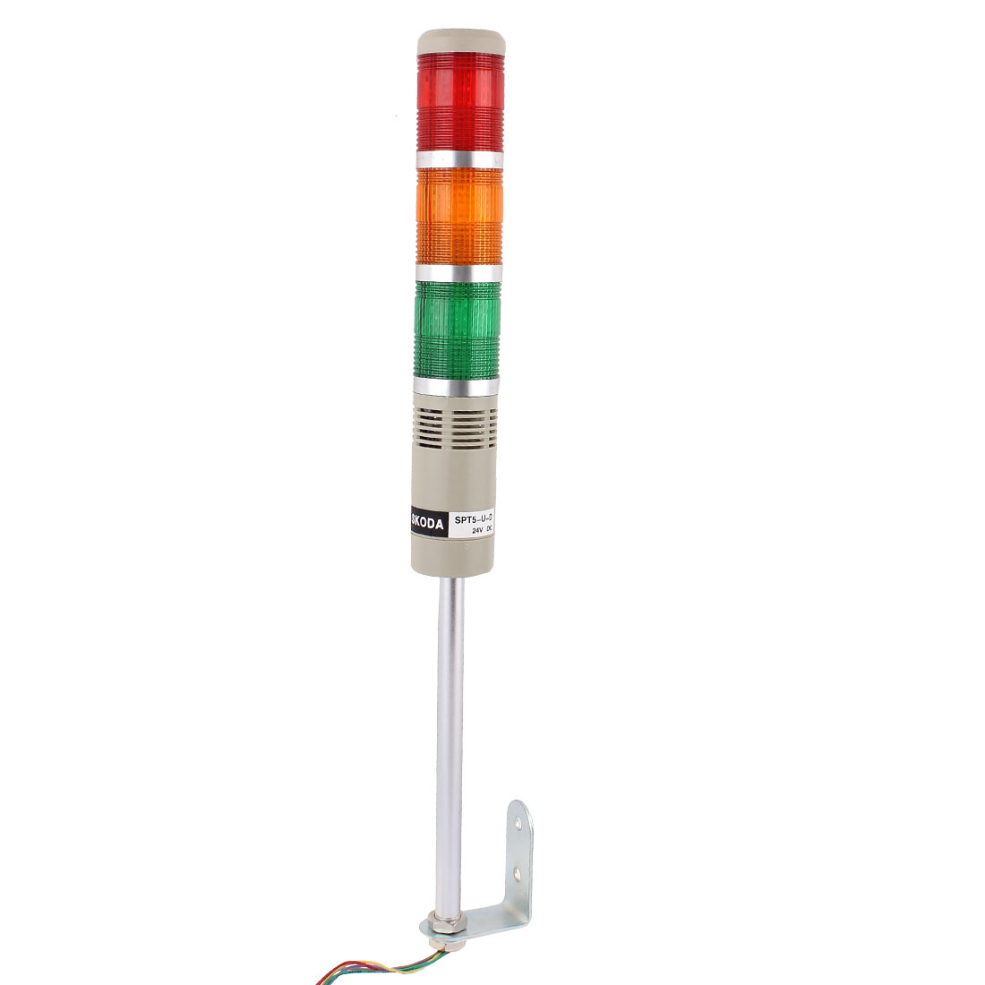 DC 24V Industrial Red Yellow Green LED Signal Tower Lamp Alarm Warning Light