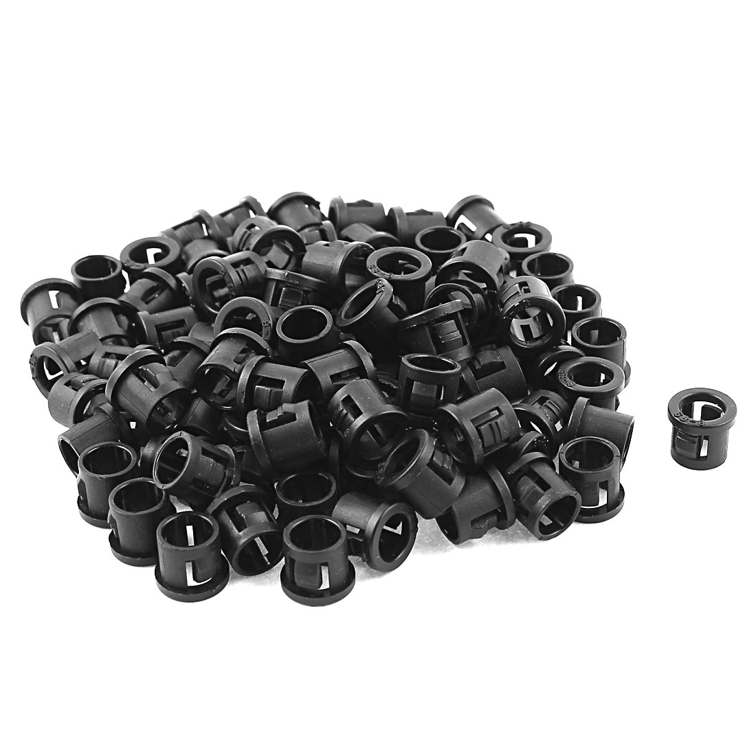 100pcs SB-8 7.8mm Mounting Hole Wire Cable Protector Nylon Snap Bushing Black