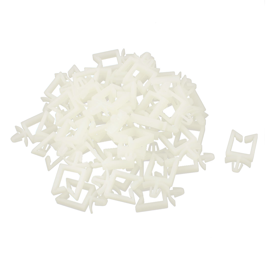 50Pcs Plastic 11mm Push in Cable Clamp Holder Fastener White