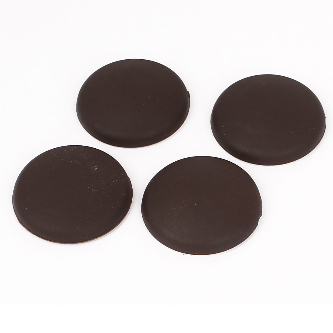 Brown Rubber Adhesive Wall Guard Door Handle Bumper Stopper Protector 4pcs
