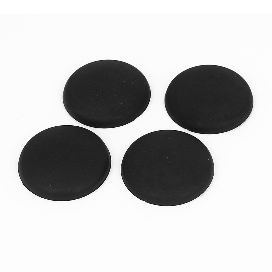 Black Rubber Adhesive Wall Guard Door Handle Bumper Stopper Protector 4pcs