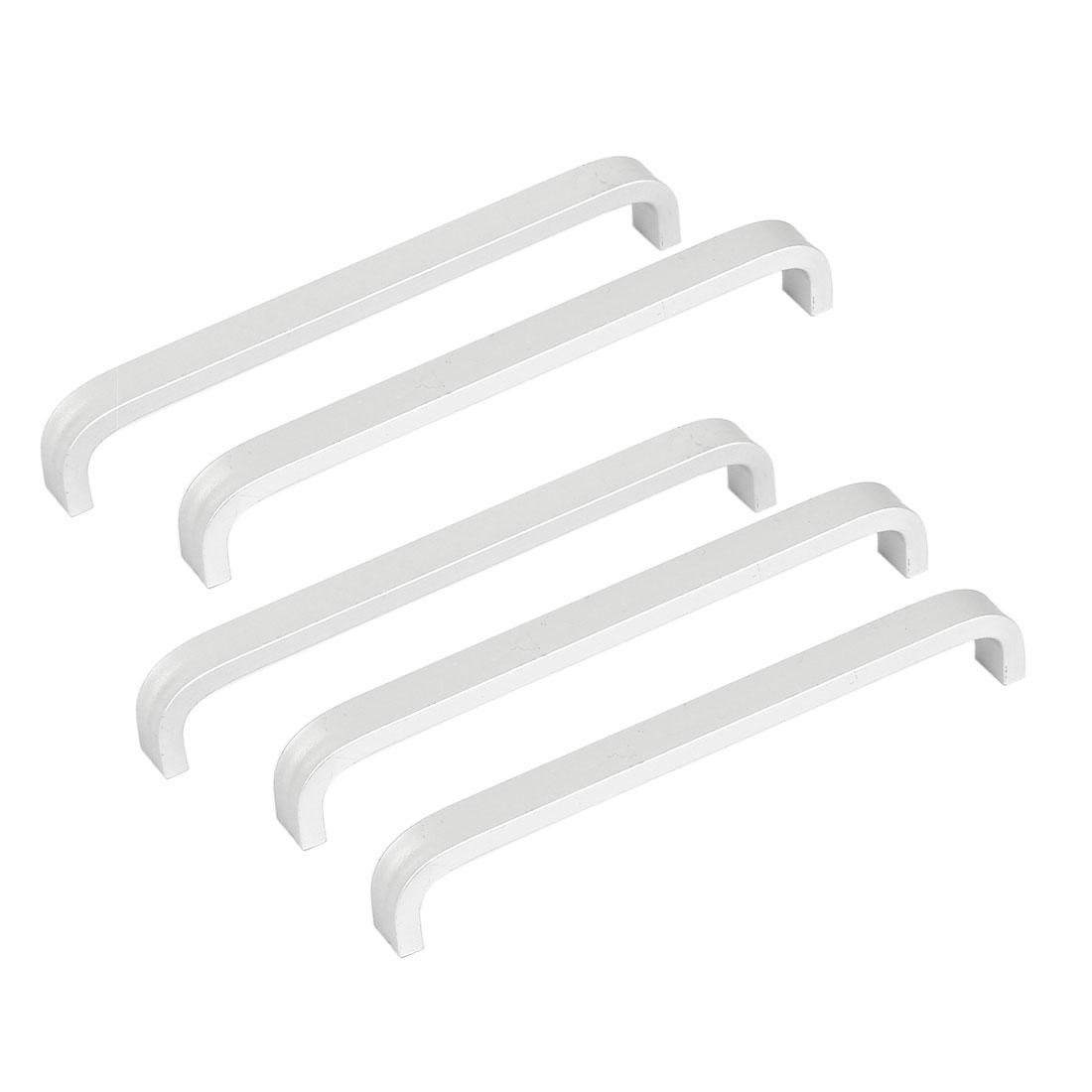 Drawer Cabinet Cupboard Closet Wardrobe Arch Shape Aluminium Pull Handle 5pcs