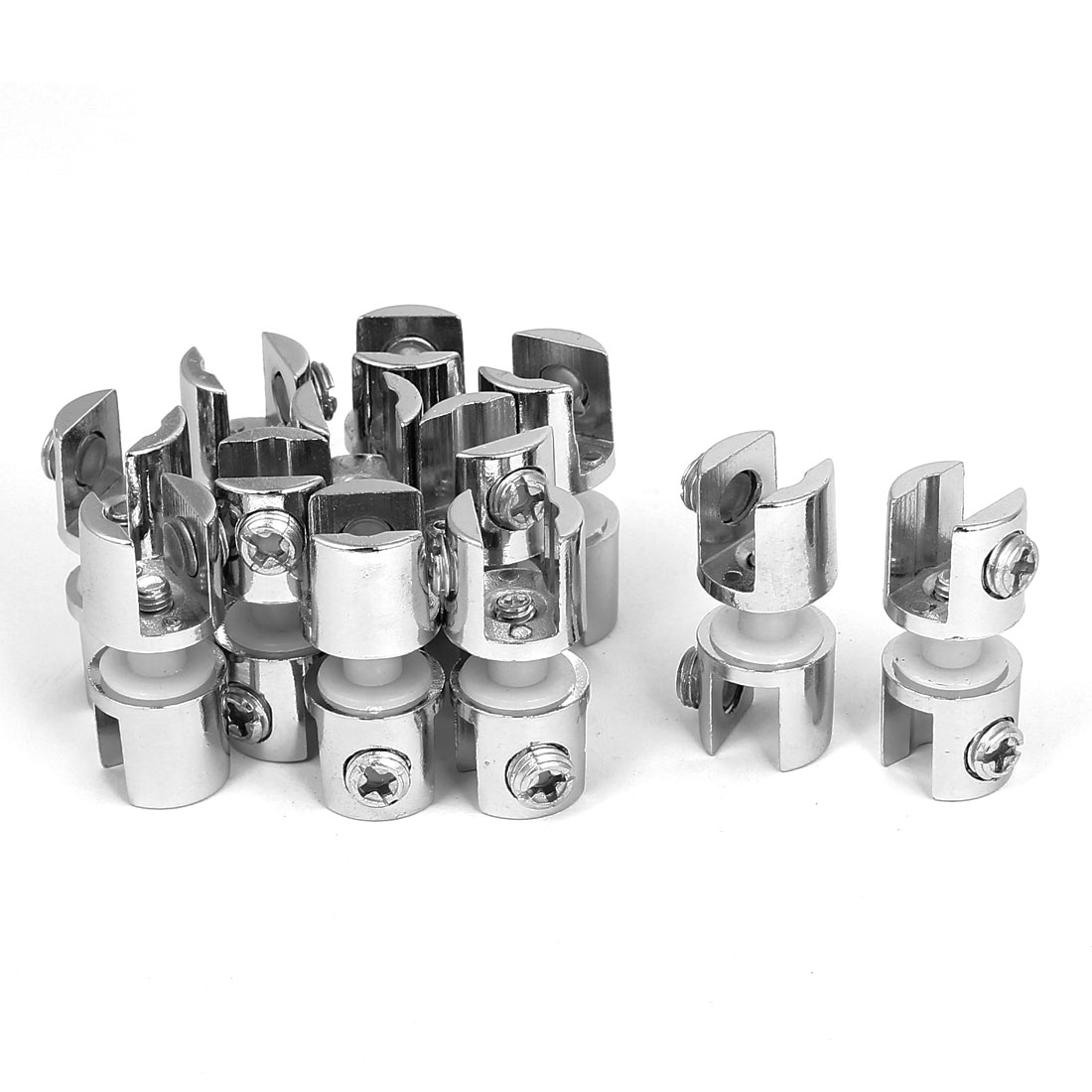 Zinc Alloy 10mm Thickness Window Glass Shelf Clip Clamp Support Bracket 12pcs