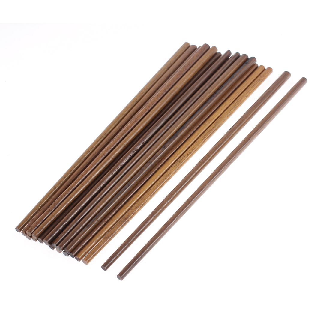10 Pairs Restaurant Home Kitchen Brown Wood Chopsticks Dishware 24cm Length