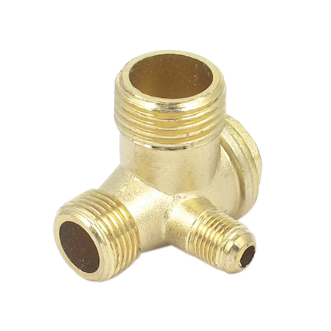 Air Compressor 3 Ports Brass Male Threaded Check Valve Connector Tool