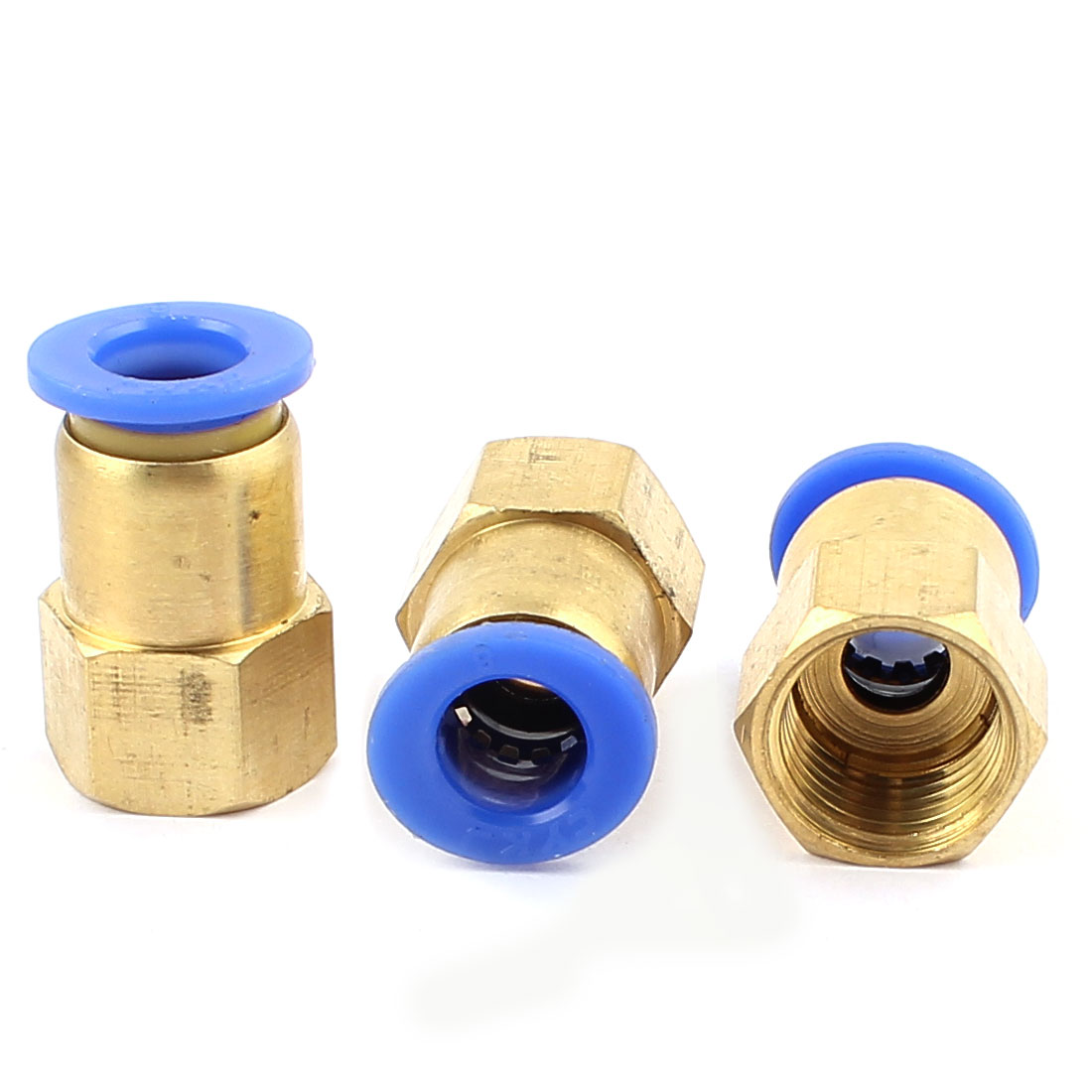3 Pcs 1/4 BSP Thread to 8mm Push in Pneumatic Air Quick Connect Tube Fitting Coupler
