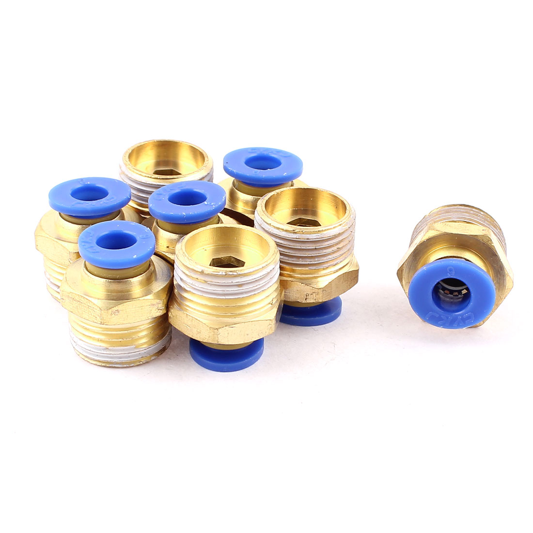 8 Pcs 6mm Tube to 3/8 BSP Thread Push in Quick Connect Coupler Fittings PC6-03