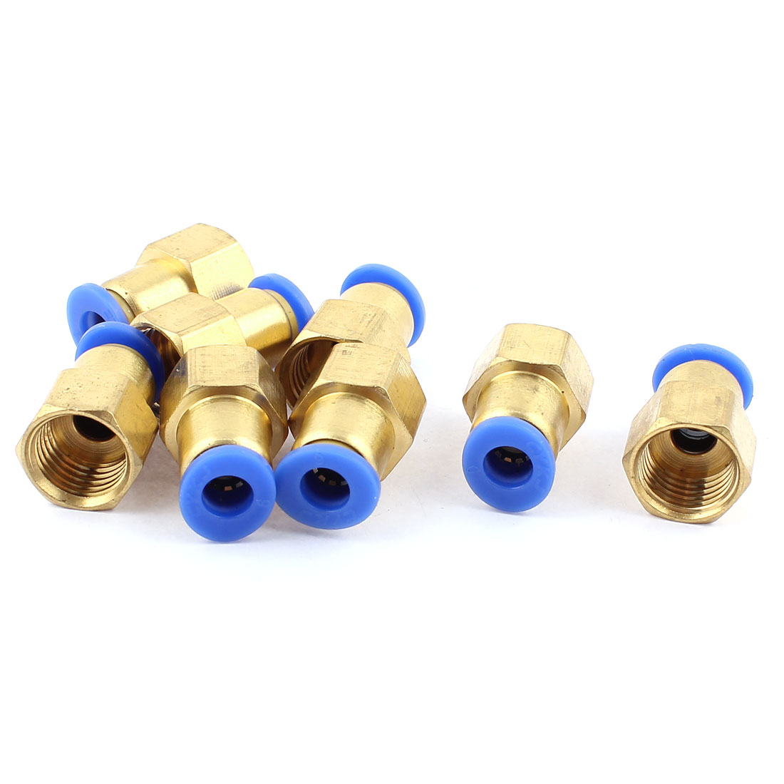 8pcs 1/4 BSP Thread to 6mm Push in Pneumatic Air Quick Connect Tube Fitting Coupler