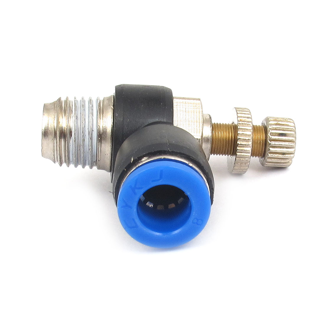 8mm x 1/4BSP Flow Speed Control Valve Connector Elbow Pneumatic Push in Fitting