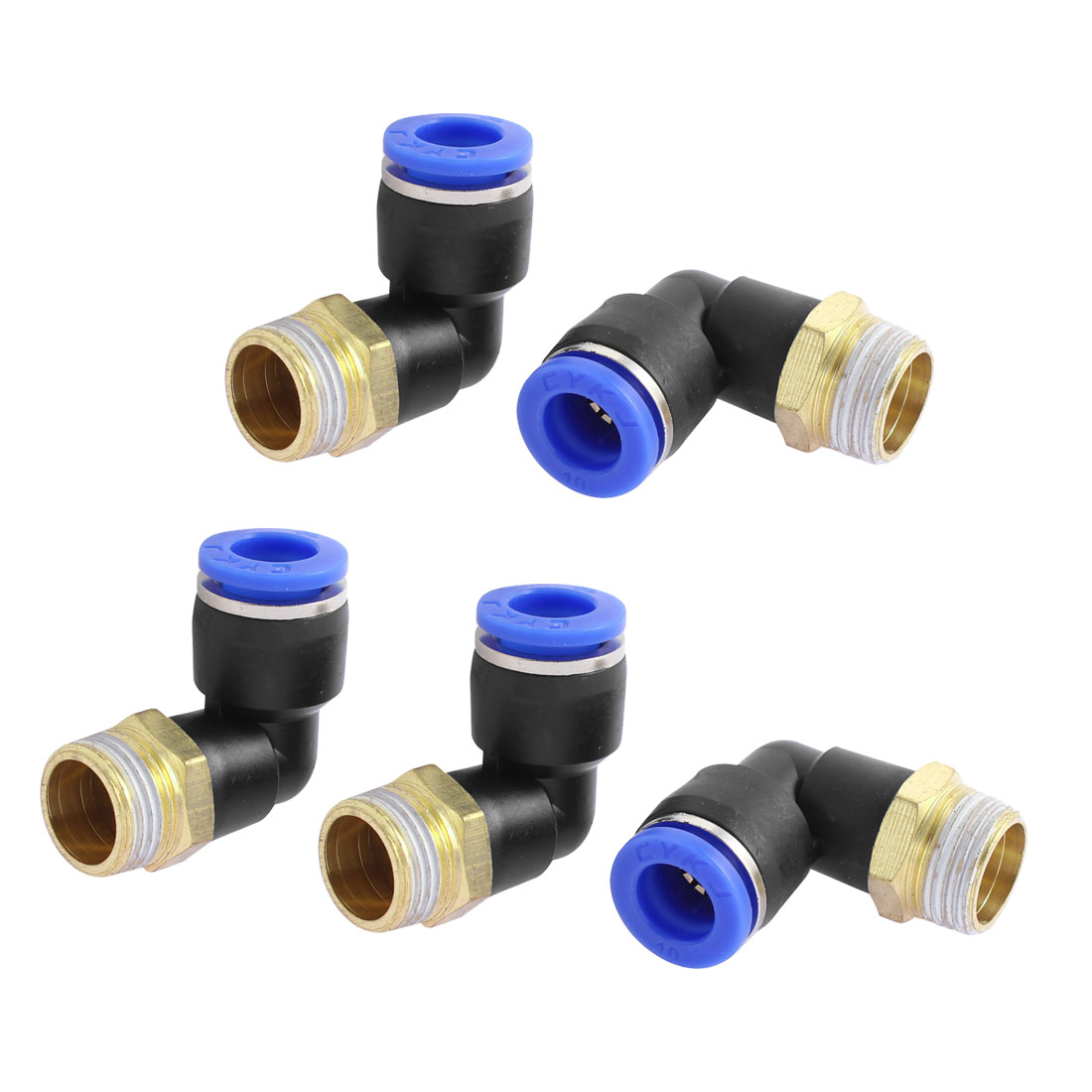 5 Pcs 3/8BSP Male to 10mm Tube Elbow Connectors Quick Connect Fittings PL10-03