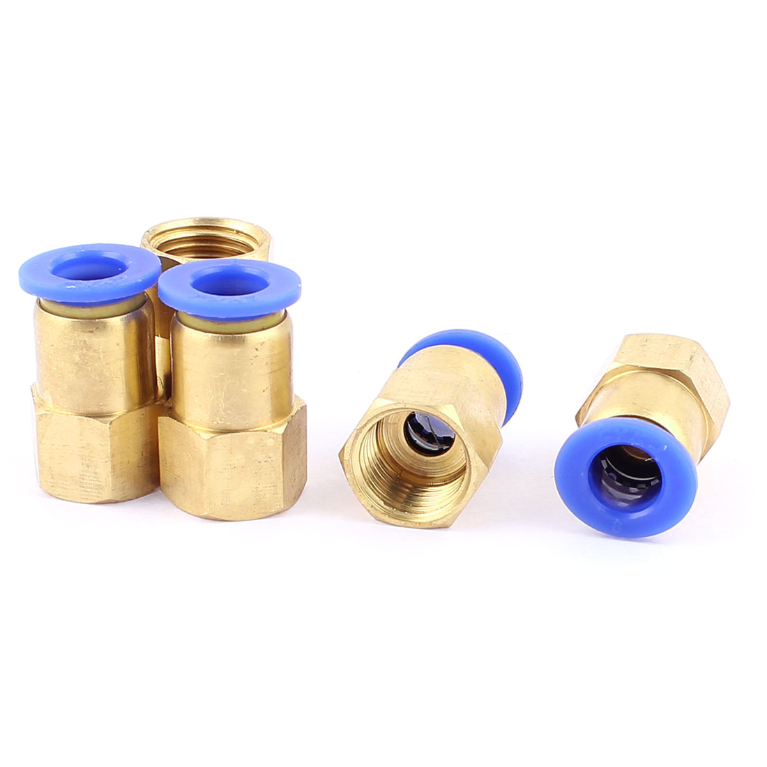 5 Pcs 1/4 BSP Thread to 8mm Push in Pneumatic Air Quick Connect Tube Fitting Coupler
