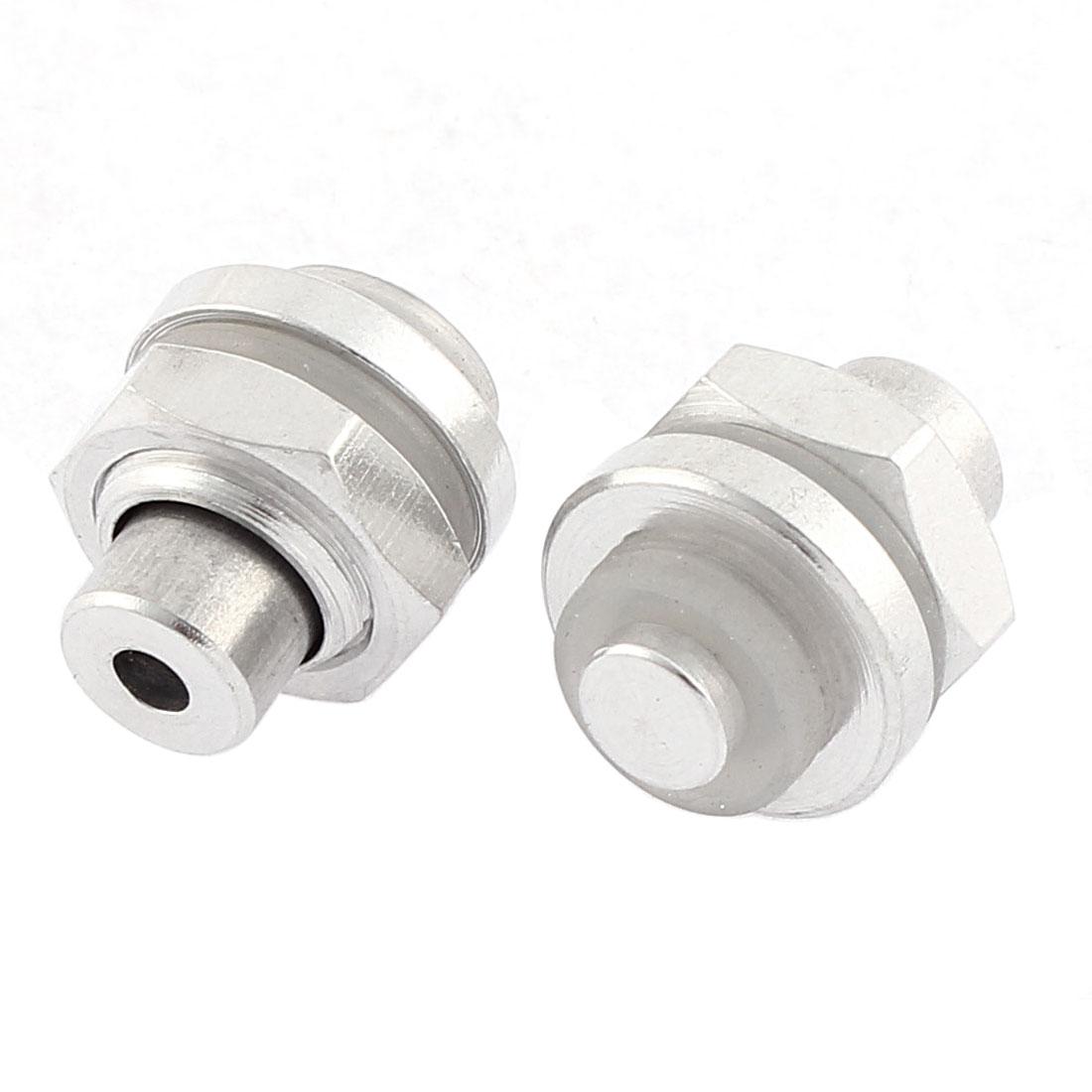Pressure Cooker Aluminium Safety Valve 2cm Length Silver Tone 2 Pcs