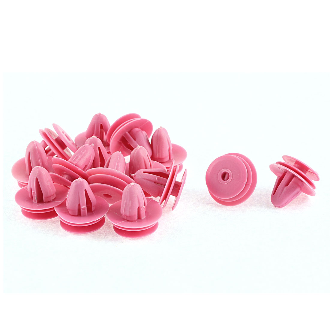 15 Pcs 10mm x 7.5mm Hole Fuchsia Plastic Rivets Fastener Push Clips for Hyundai Elantra