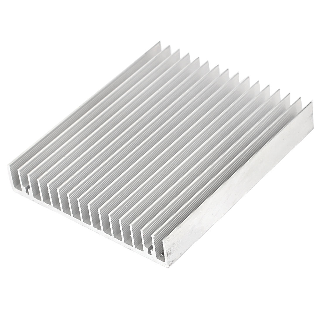 120mx100mx18mm Aluminum Rectangle Heat Diffuse Cooling Fin Heatsink Silver Tone