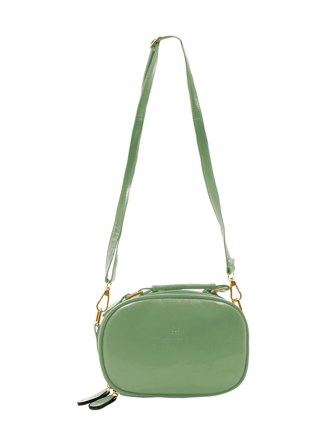 Women Detachable Strap Imitation Leather Mini Crossbody Bag Green