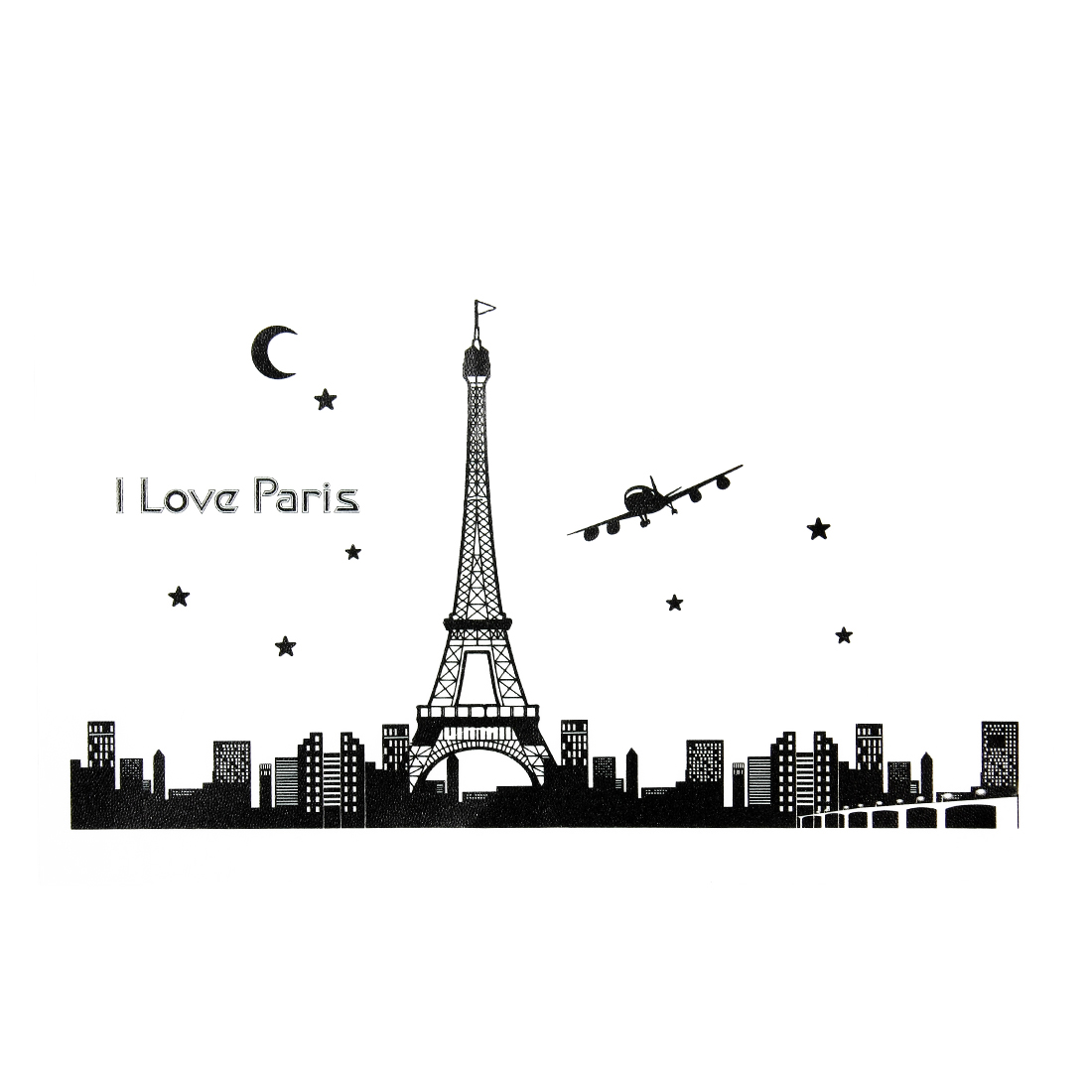 Eiffel Tower Pattern Glow In Dark Luminous Fluorescent Wall Sticker Home Decor