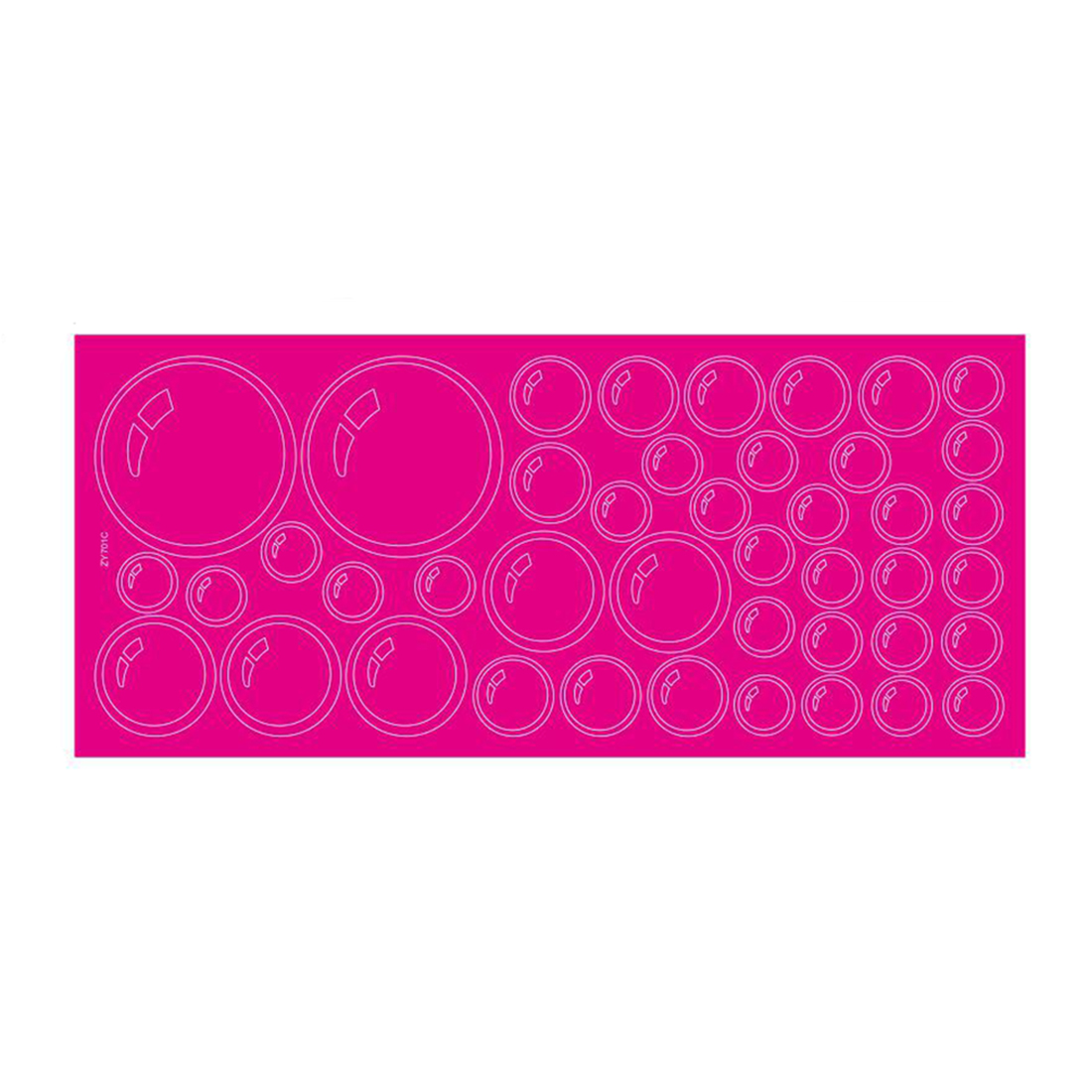 Bubbles Pattern Bathroom Wall Stickers Decals Room Decor Fuchsia