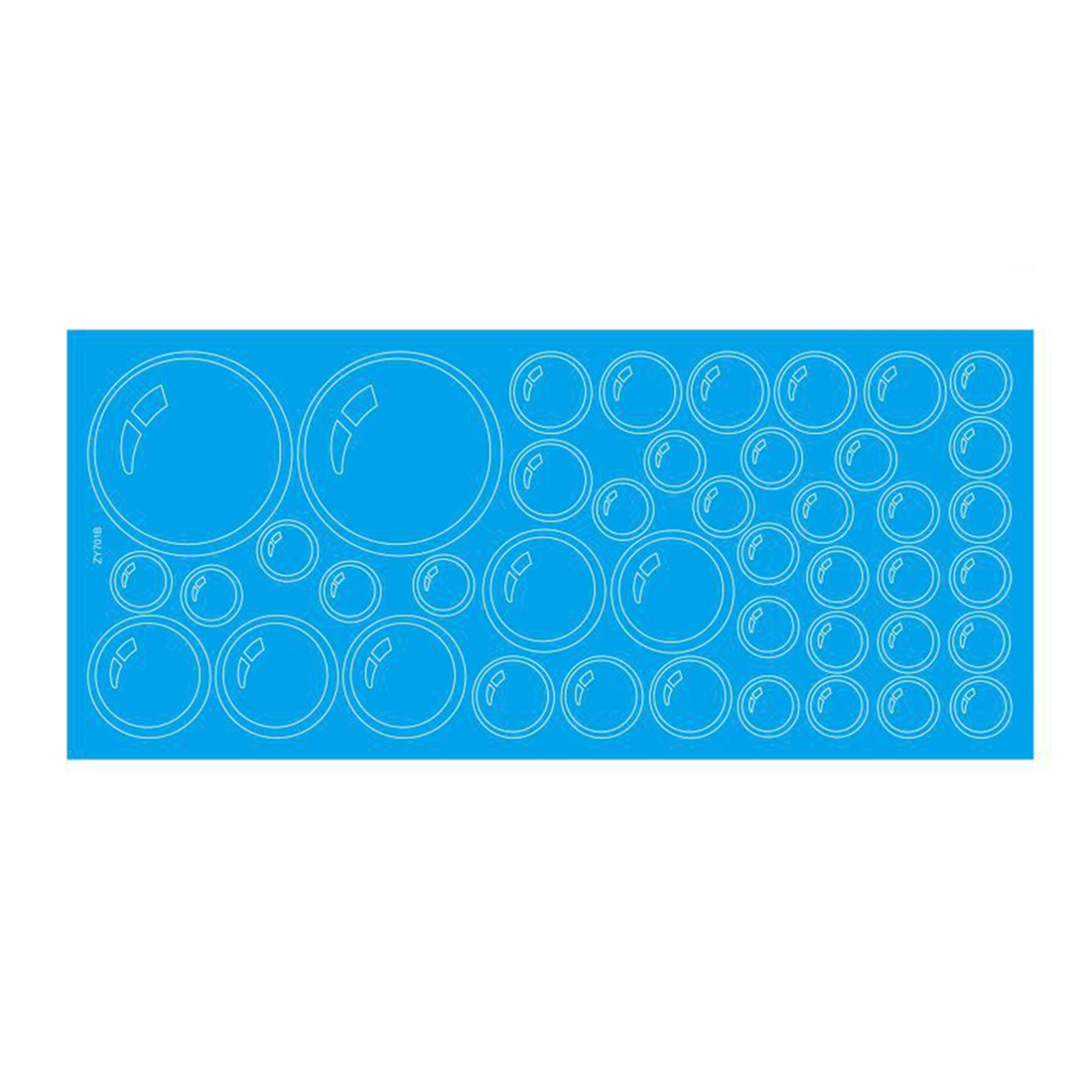 Bubbles Pattern Bathroom Windows Tile Wall Stickers Decals Decor Blue