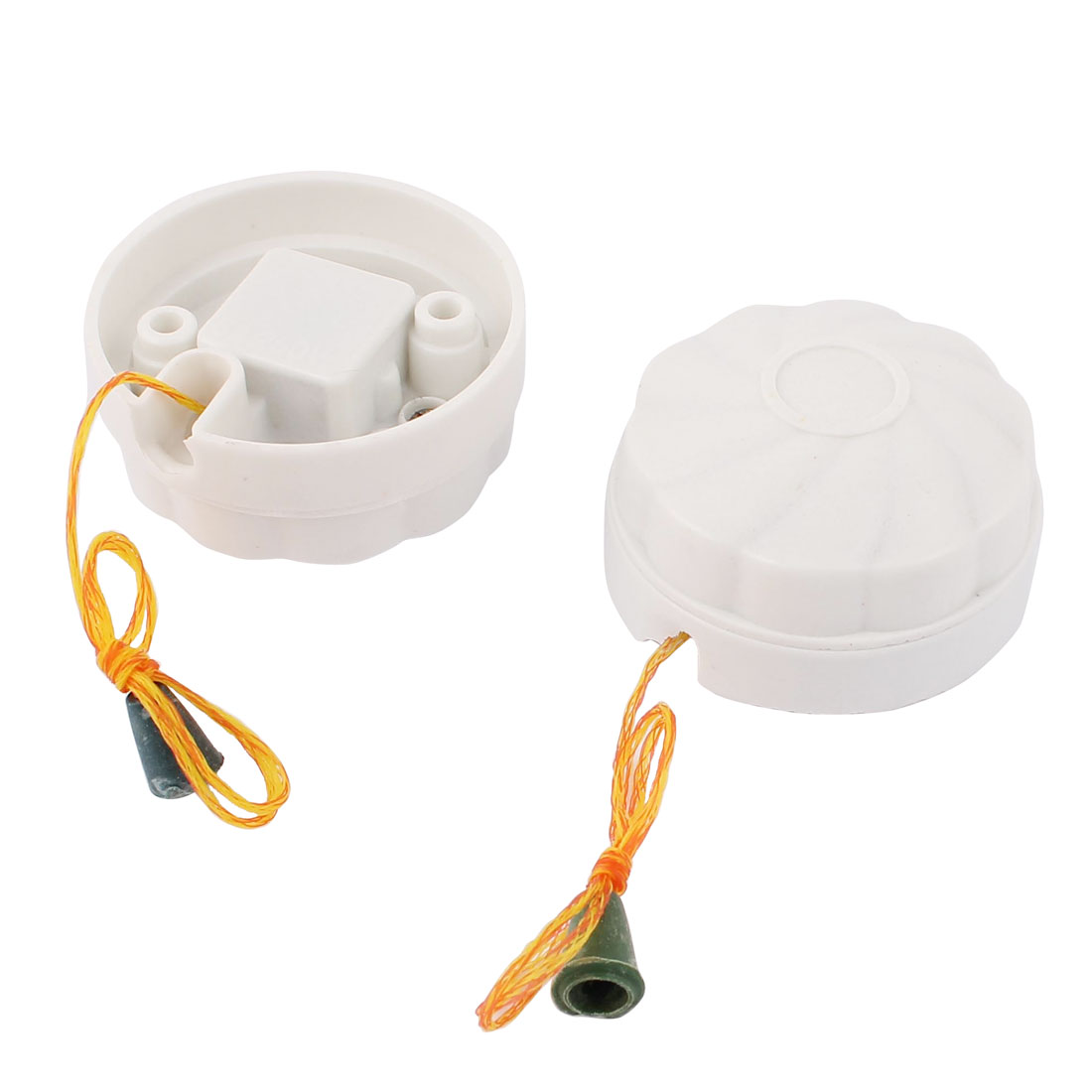 AC 250V 6A Bathroom Ceiling Light Plastic Pull Cord Switch White 2pcs