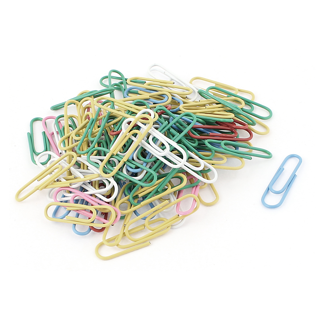 Desk Office Supplies Color Paper Clips 28mm Length 100pcs