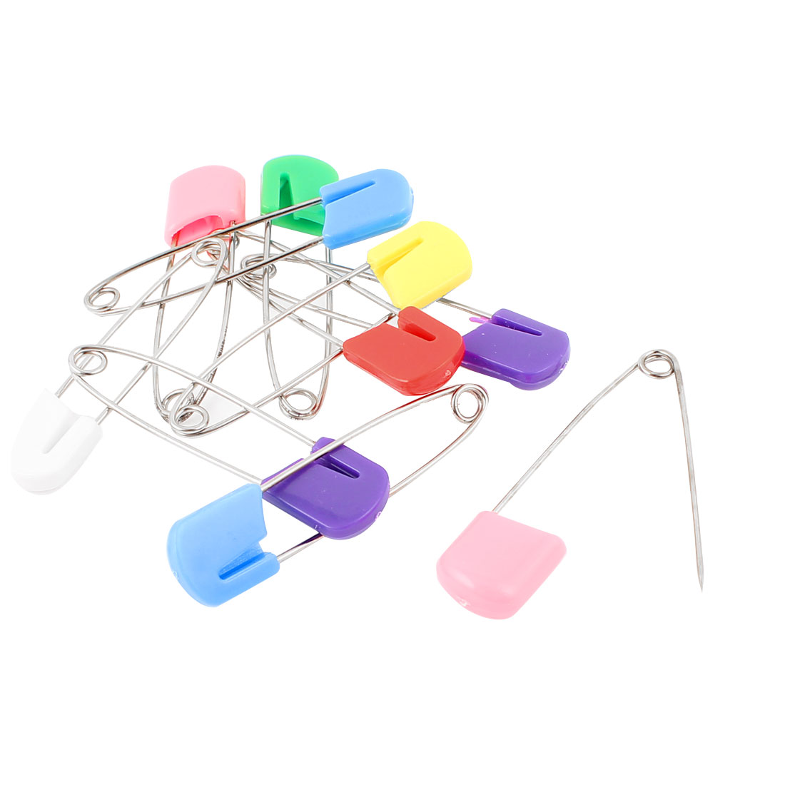 Metal Plastic Head Clothing Scarf Fastening Safety Pins Sewing Tool 10pcs