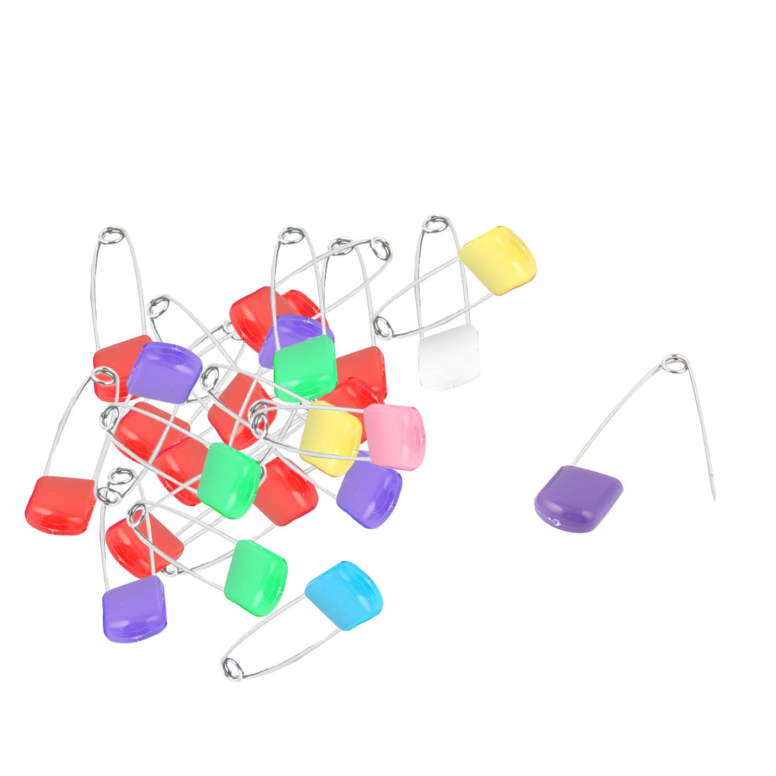 Craft Cloth Diaper Stainless Steel Brooch Safety Pin Assorted Color 24 Pcs