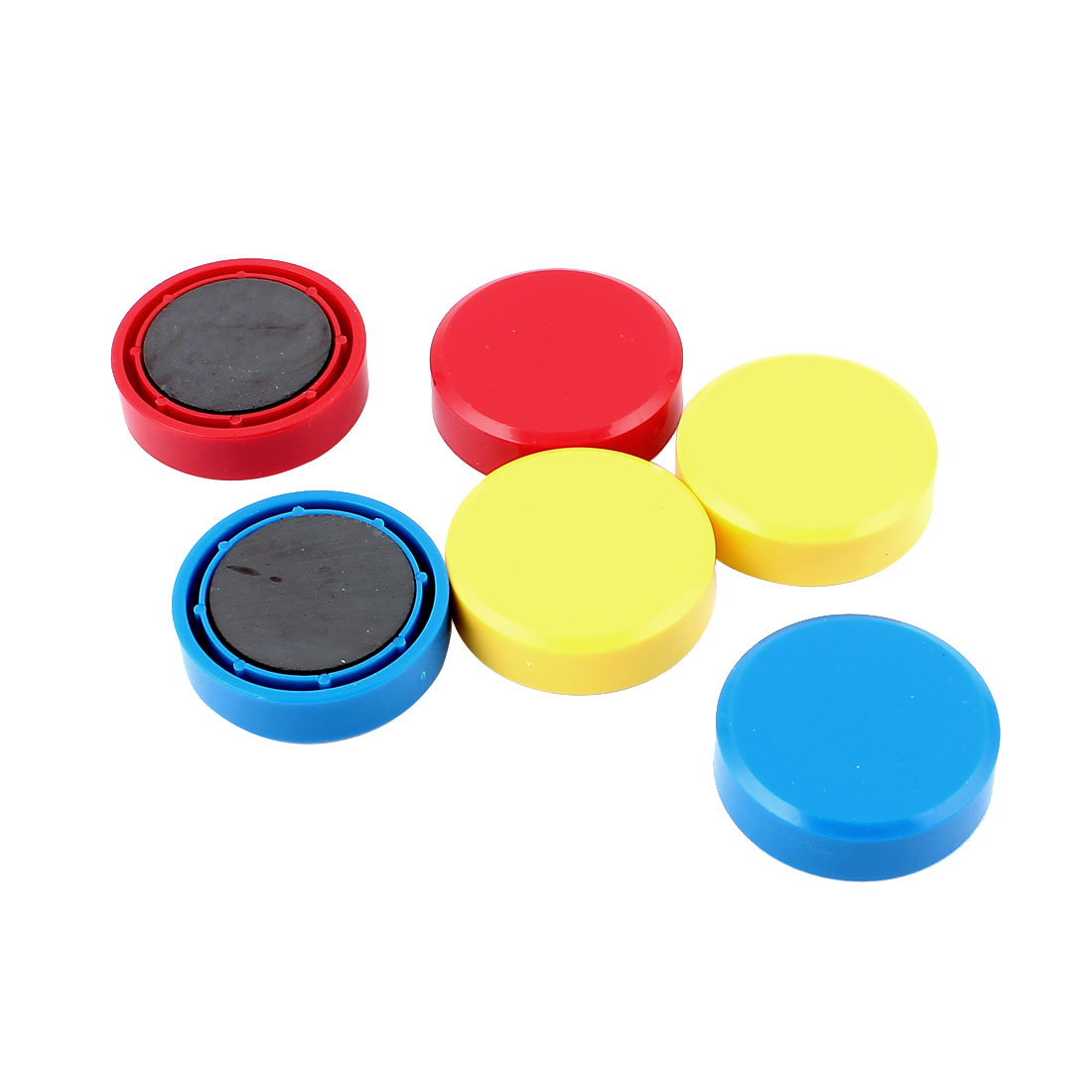 Kitchen Refrigerator Round Button Magnetic Sticker Blue Yellow Red 6pcs