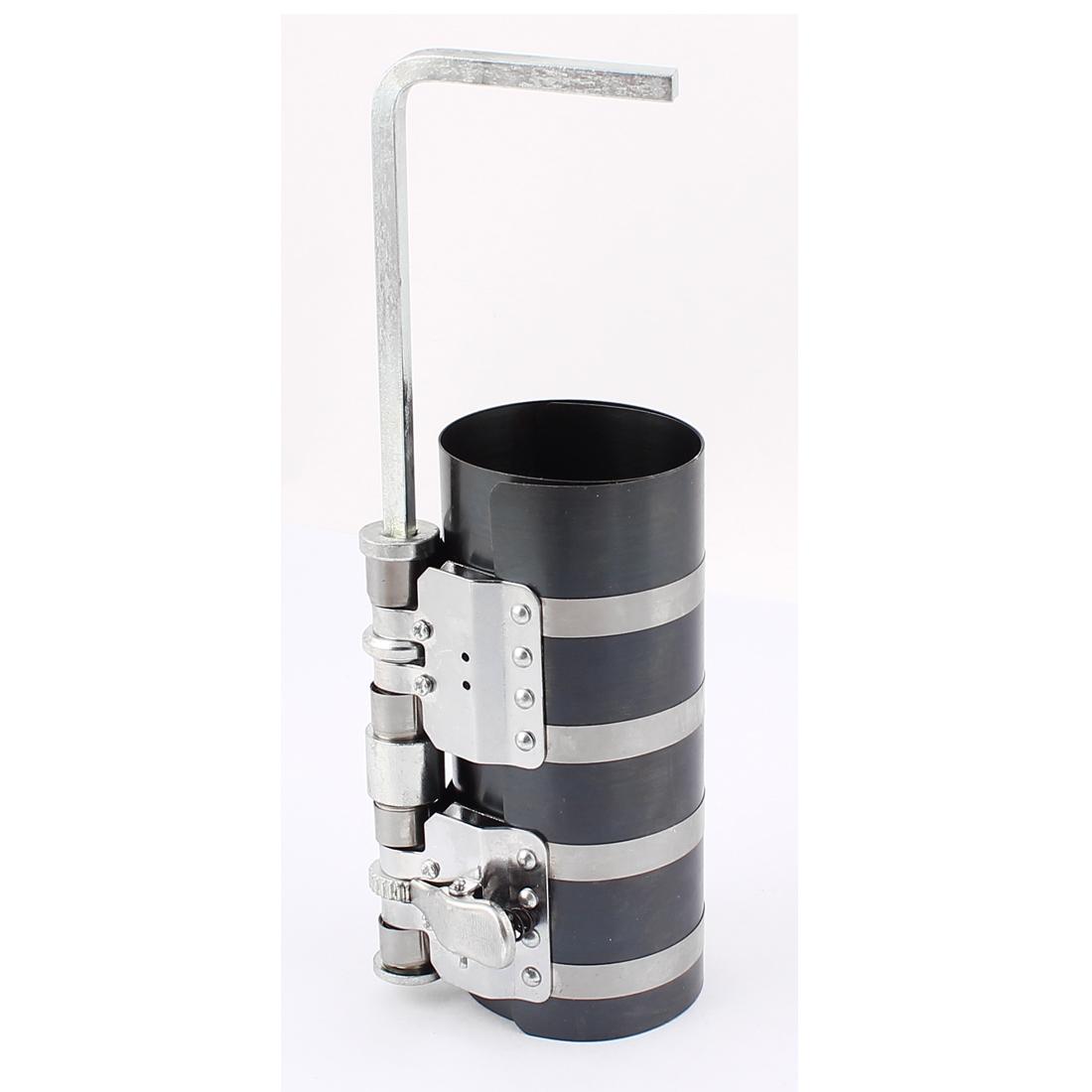Piston Ring Compressor Tool 60-230mm Black Silver Tone