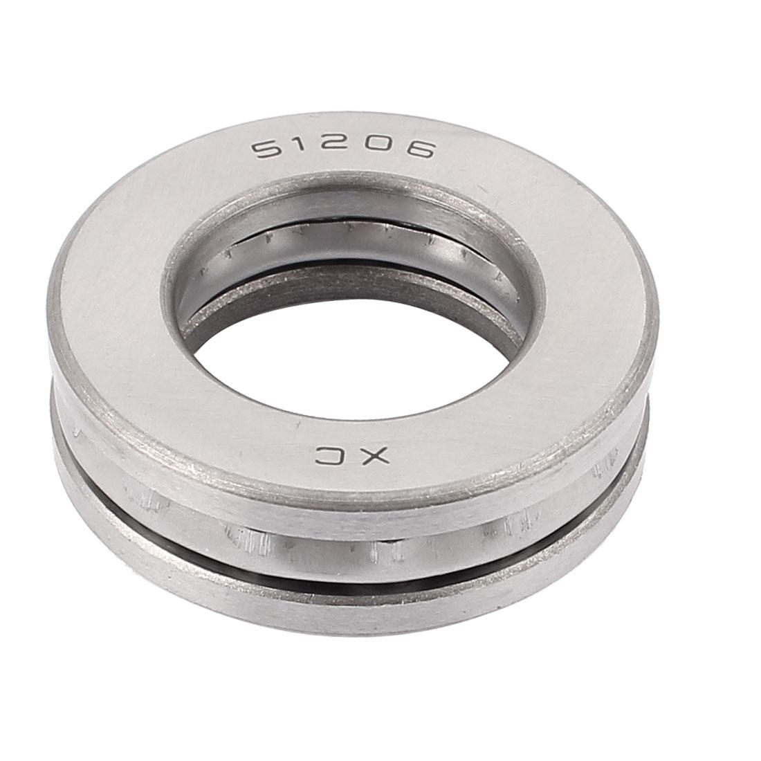 51206 Carbon Steel Axial Thrust Ball Bearing 30mmx52mmx16mm
